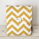 Ipad Case - Chevron Yellow..